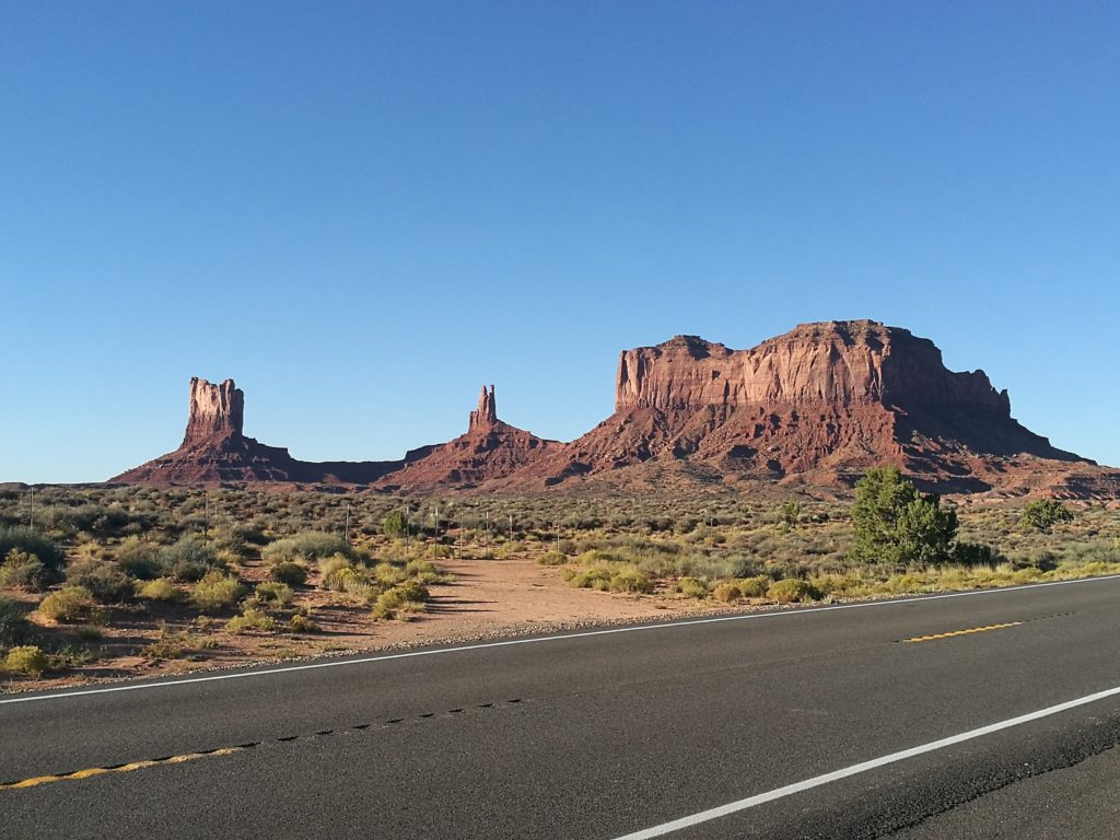 Spectacular scenery in Monument Valley