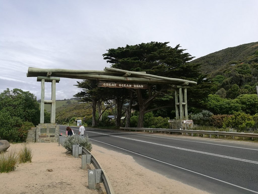 The start of Australia's Great Ocean Road
