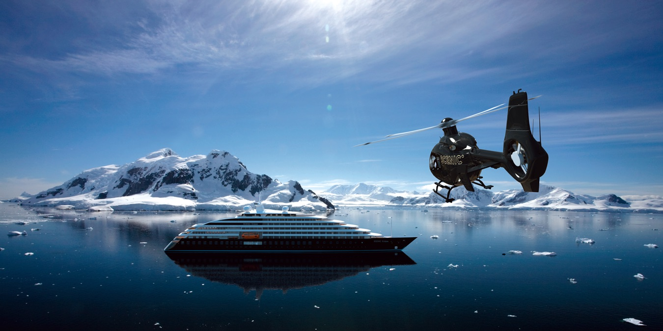 Cruise Ship in an Icy Bay