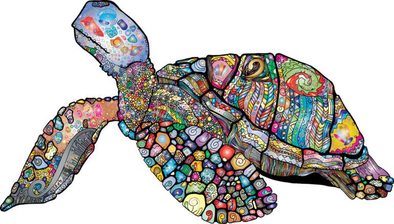 Sea Turtle - Colourful