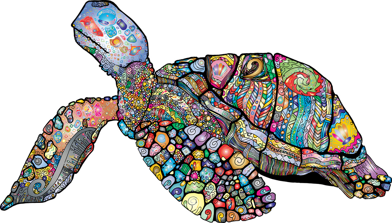 Sea Turtle - Colourful