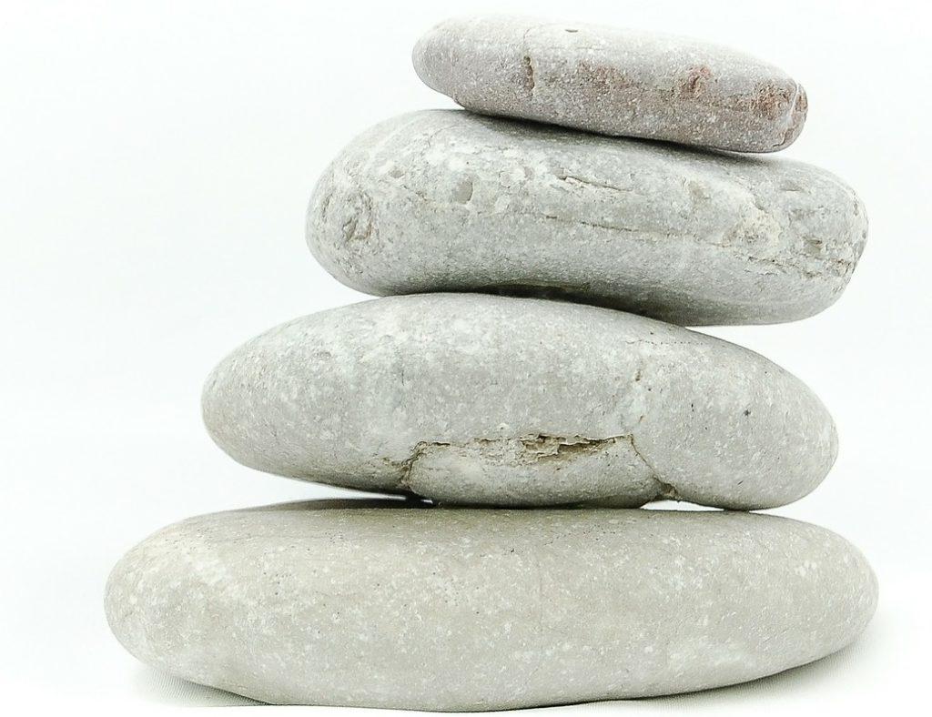 stack of pebbles mindfulness meditation