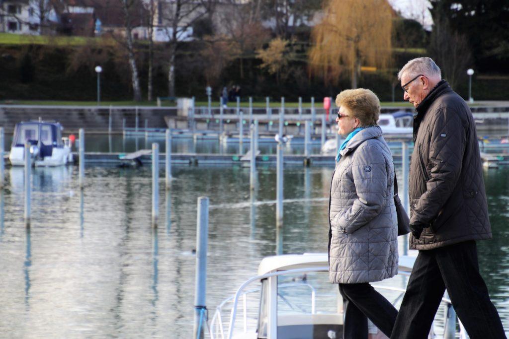 older people walking