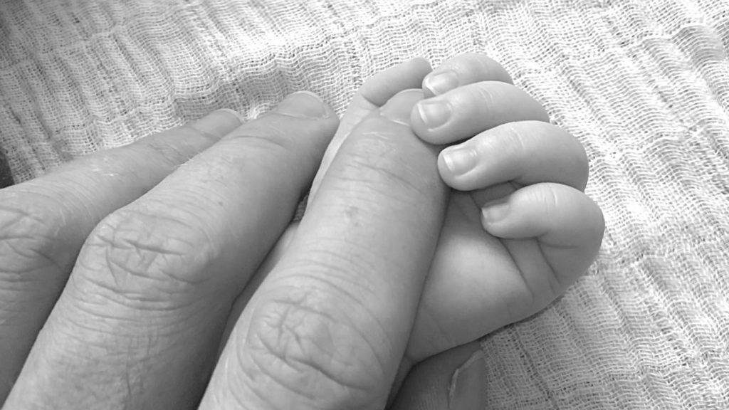 newborn baby hand