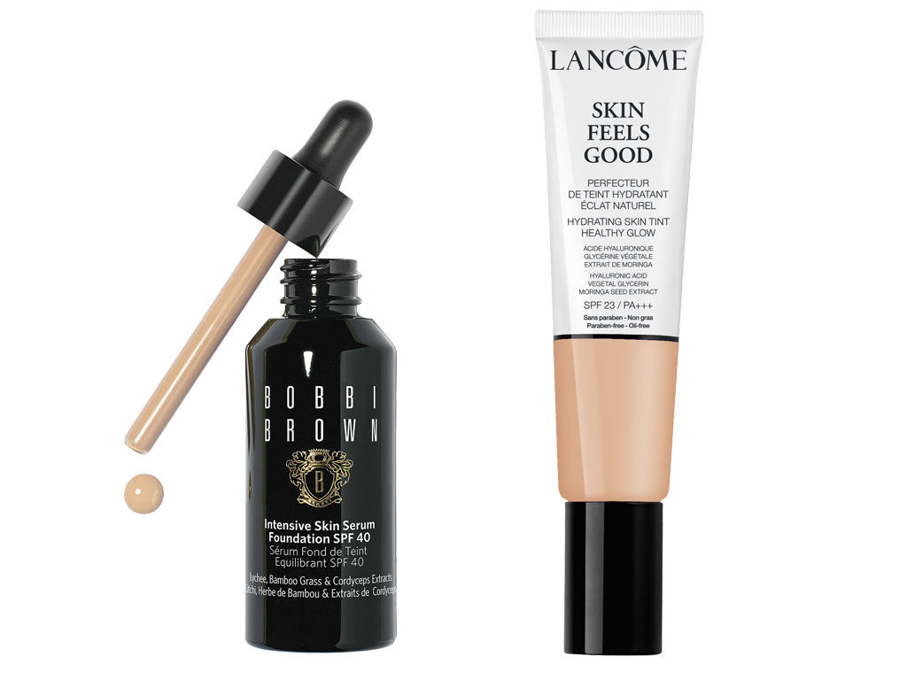 Lancome Skin Feels Good and Bobbi Brown Intensive Serum Foundation
