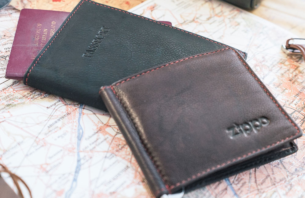 Leather Zippo Wallet