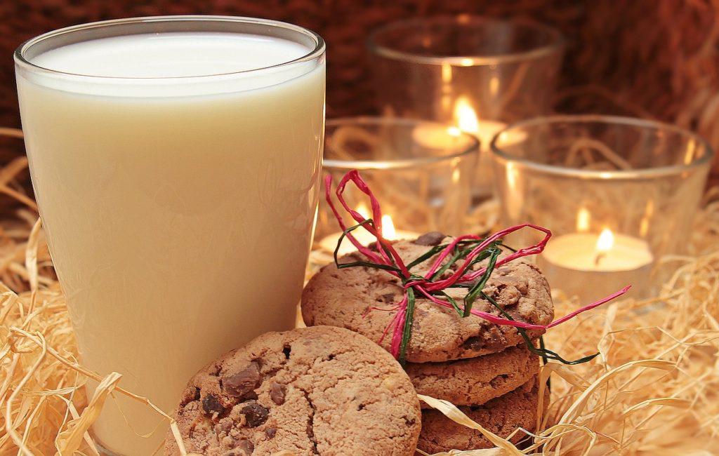 glass of warm milk