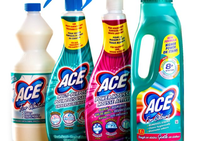 ACE stain remover cleaning products