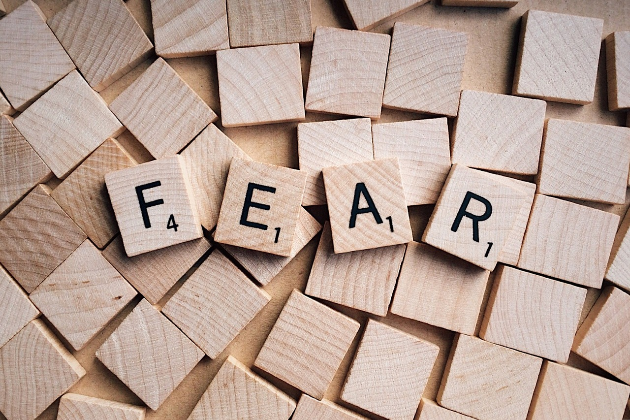 Fear -Scrabble word