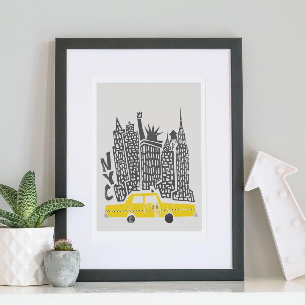 Fox and Velvet print