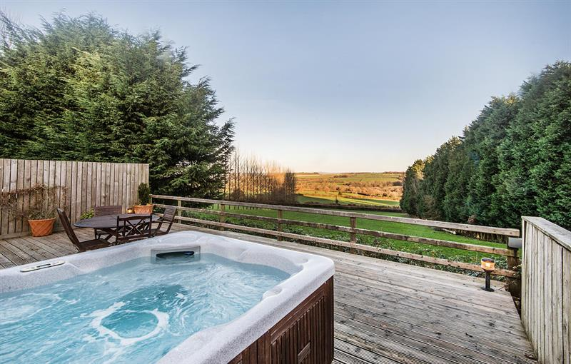 cottage and hot tub