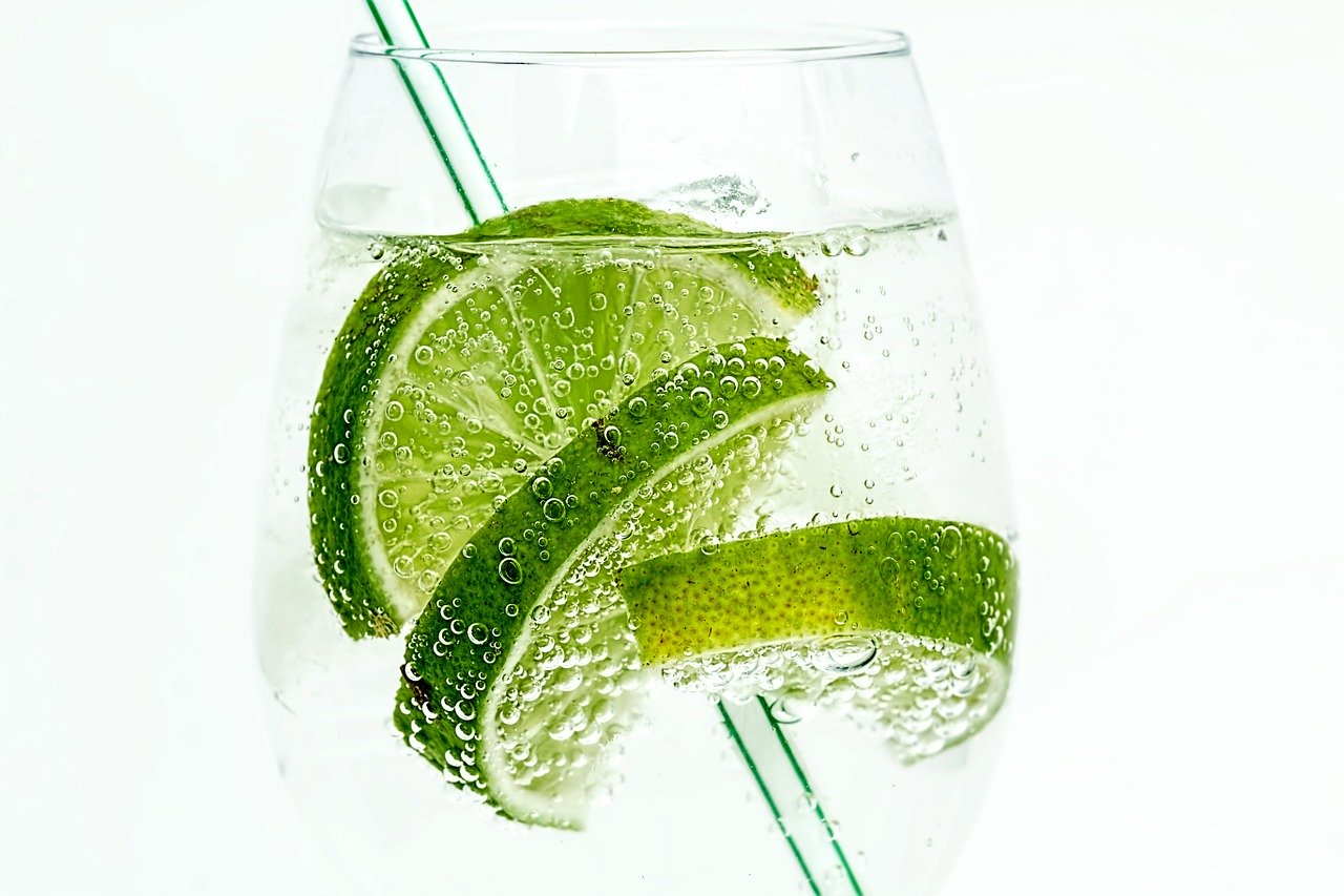 Dry January - lime soda
