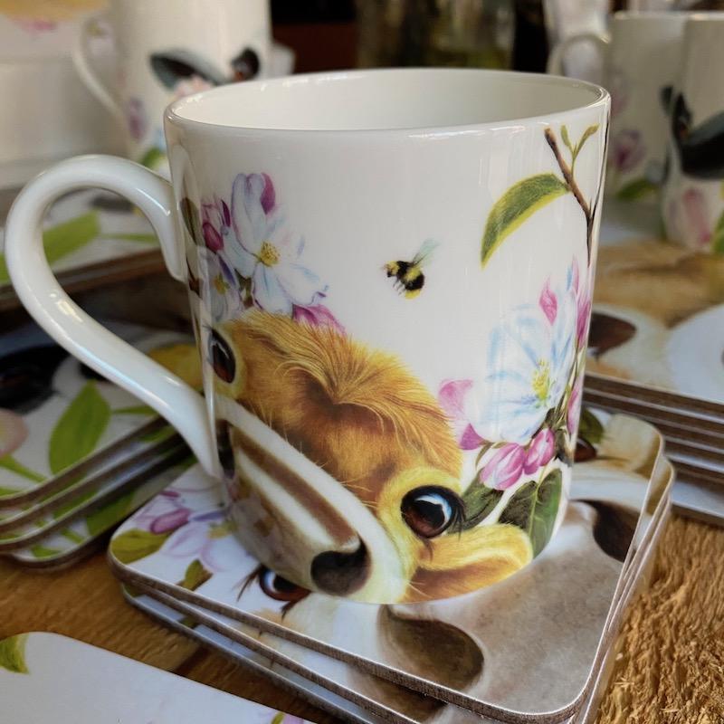 Lucy's Farm Blossom Moo mug