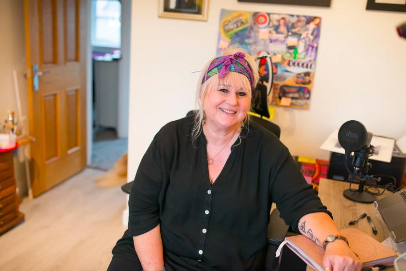 Mandy Nicholson at home