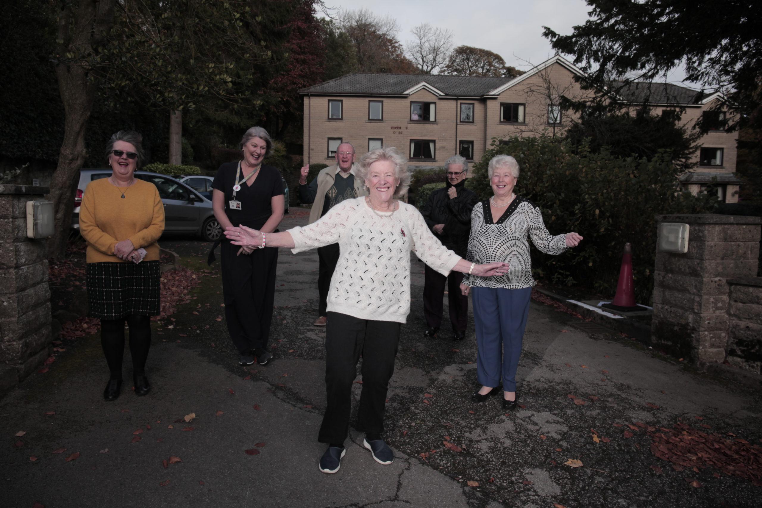 Jackie Corrigan in her new retirement community